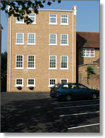 Car park of Queensgate Rentals serviced apartments in Maidenhead
